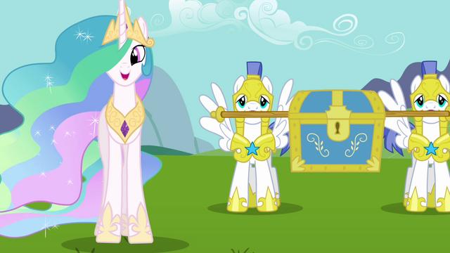 "File:Princess Celestia ""I have them right here"" S03E10.png"