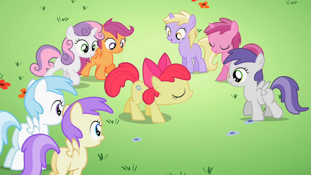 File:Students gathering around Apple Bloom S2E06.png