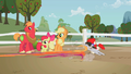 Ponies dash to play with Granny Smith S2E12.png