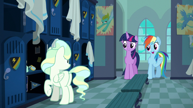 "File:Rainbow Dash ""you're a really strong flyer"" S6E24.png"