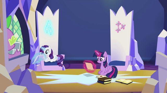 File:Spike, Rarity and Twilight in the throne room EG2.png