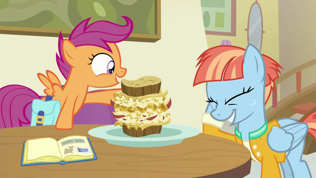 File:Windy Whistles embarrassed by Scootaloo's words S7E7.png