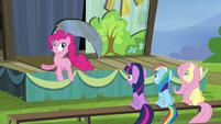 Pinkie Pie bouncing around S4E21
