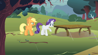 Rarity doesn't want to get muddy S1E08