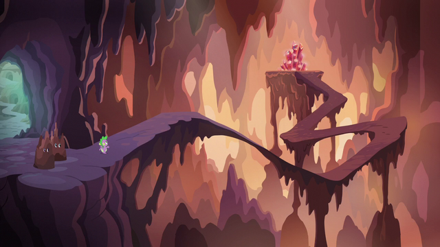 File:Spike, Twilight, and Rarity in the center of the flame-cano S6E5.png