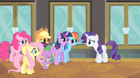 Twilight explains why they weren't able to attend the show S4E08