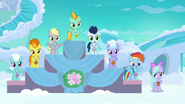 File:Filly Rainbow in fourth place at award ceremony S7E7.png