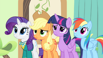 Fluttershy's friends see Fluttershy crying S4E14