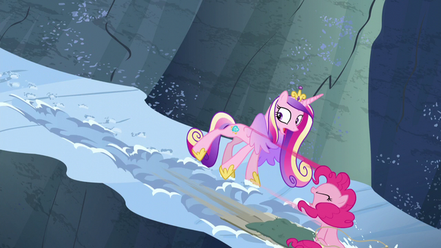 File:Pinkie slides past Cadance S5E11.png