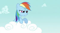 Rainbow Dash looking angrily S2E23