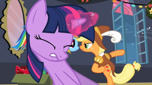 File:Twilight pulling Fluttershy out of box S2E11.png