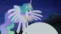 Princess Celestia at top of orrery S4E02.png