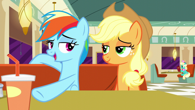 "File:Rainbow pushes cup away ""Nope"" S6E9.png"