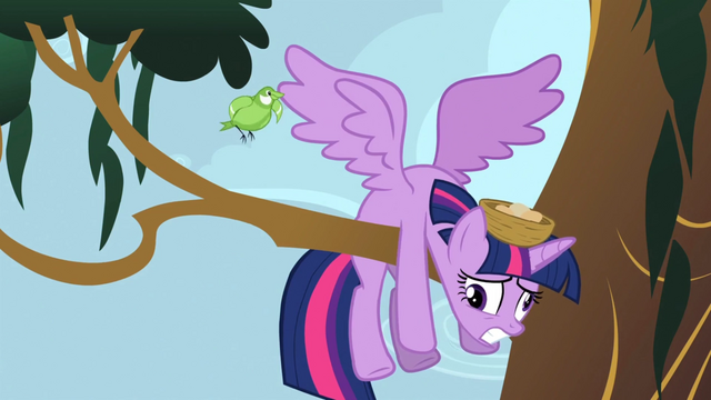 File:Twilight having smacked into a tree branch S4E01.png
