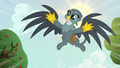 Gabby dive-bombing out of the sky S6E19.png