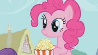 Pinkie Pie holding popcorn S1E04