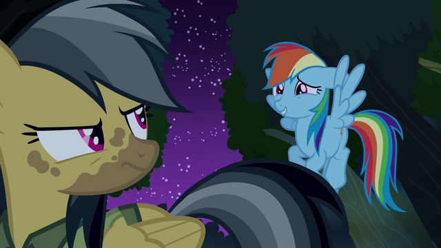 """File:Rainbow Dash """"I'll be quiet now"""" S4E04.png"""
