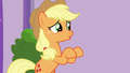 AJ making air quotes with her hooves S6E10.png