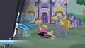 DJ station speeds past Featherweight and ponies S5E9.png