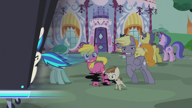 File:DJ station speeds past Featherweight and ponies S5E9.png