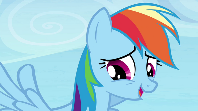 "File:Rainbow Dash ""point taken"" S4E25.png"