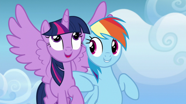 File:Rainbow Dash nudging Twilight with her elbow S6E24.png