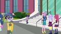 Twilight and Spike on the CHS front steps EG3.png