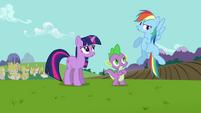 Rainbow Dash complaining S3E10