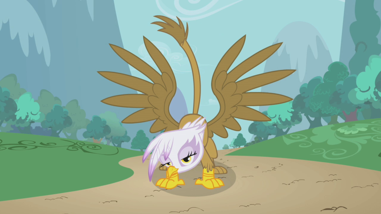 Gilda showing off S1E05