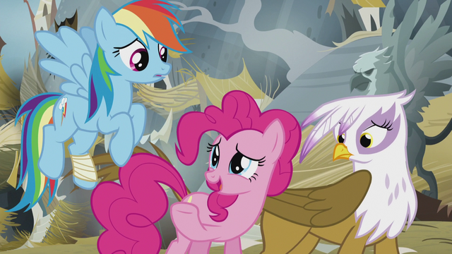 "File:Pinkie Pie ""that's what I was trying to tell you!"" S5E8.png"