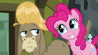 "Pinkie Pie smiles widely at Cranky ""like me?"" S02E18"