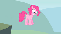 Pinkie Pie walks off the cliff S1E15