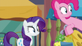 Pinkie and Rarity looking over at Maud S6E3.png