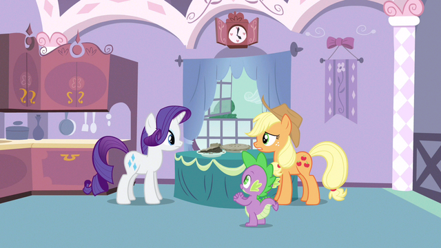 File:Rarity looking at pie S3E9.png