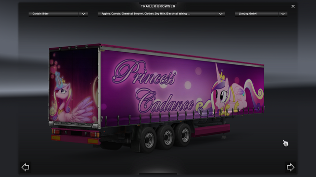 File:FANMADE ETS2 Pete 389 Custom - Princess Cadance Skin 13.png