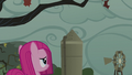 Filly Pinkamena looking at the grey sky S5E25.png