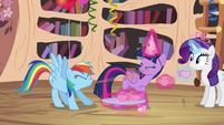 Rainbow Dash spit-take S4E04