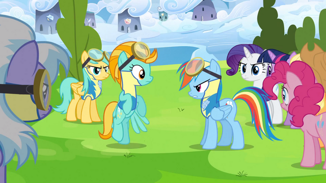File:Rainbow Dash talks to Lightning Dust S3E07.png
