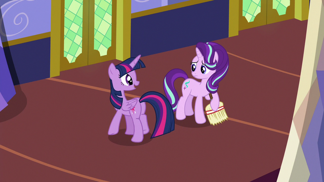 "File:Twilight Sparkle ""sound like your assignments"" S6E21.png"