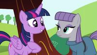Twilight introducing herself to Maud S4E18