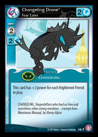 File:Changeling Drone, Fear Eater card MLP CCG.png