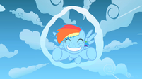 Filly Rainbow Dash ecstatic S1E23