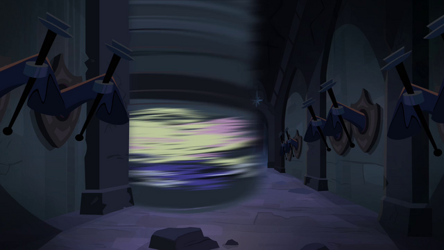 File:Fluttershy and Rarity spinning in wall S4E03.png