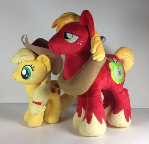 File:4DE Applejack and Big Mac plushes.jpg