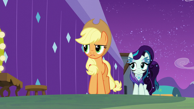 File:Applejack tells Rara the truth about Svengallop S5E24.png