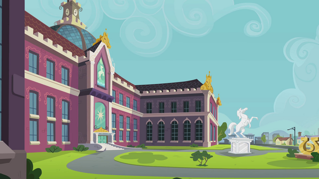 File:Canterlot High School exterior shot EG.png