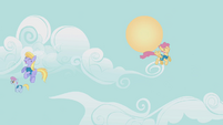 Cloud Kicker and Orange Swirl fly happily S1E11