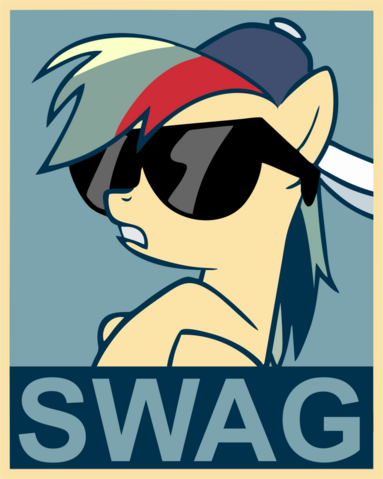 File:FANMADE Rainbow dash swag poster by fluffytuzki.png