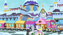 Jet Set and Upper Crust in Canterlot S02E11