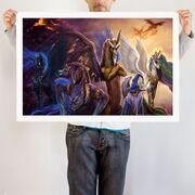 Legends of Equestria art print WeLoveFine